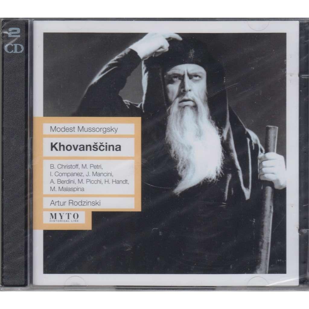 ARTUR RODZINSKI, BORIS CHRISTOFF Mussorgsky Khovanshchina Opera Rec.1958 2CD NEW