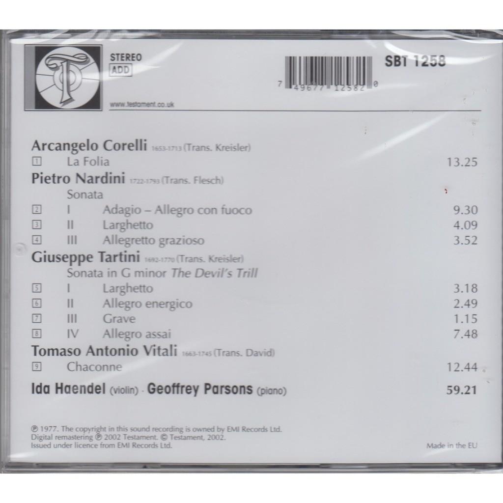 IDA HAENDEL Baroque Transcriptions Corelli Nardini Tartini Vitali CD NEW