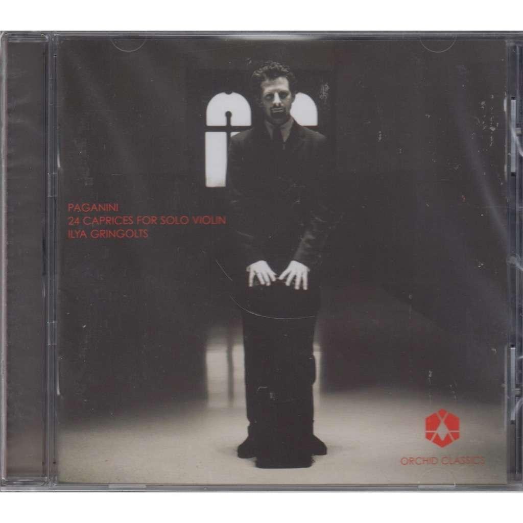 ILYA GRINGOLTS Paganini 24 Caprices Solo Violin CD NEW