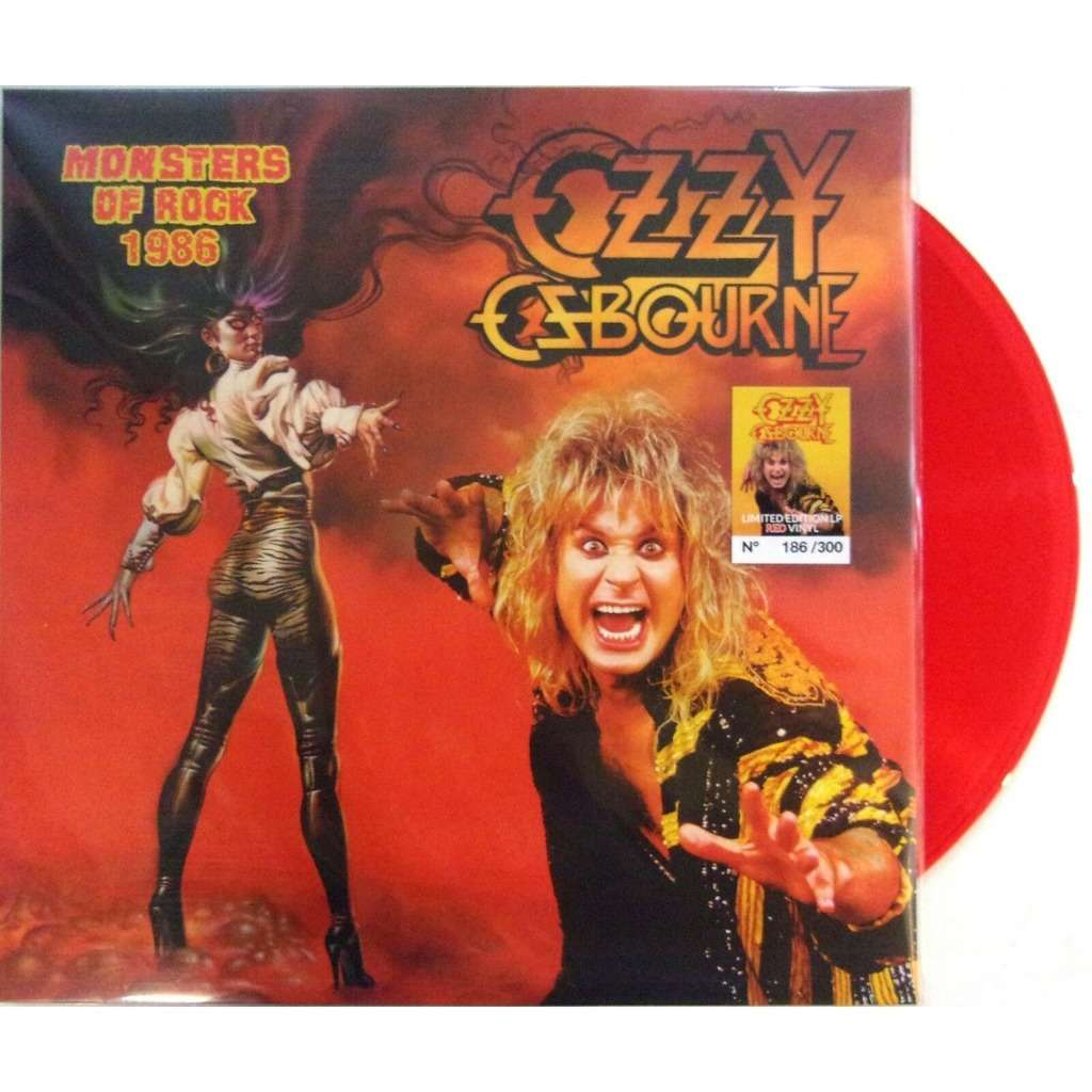 Ozzy Osbourne / Black Sabbath Monsters Of Rock 1986 (lp) Ltd Edit Red Vinyl & 300 Copies -Usa