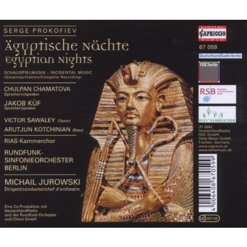 Prokofiev, Sergei Egyptian Nights / Berlin Radio Symphony Orchestra, Michail Jurowski
