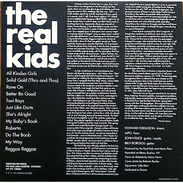 The Real Kids The Real Kids