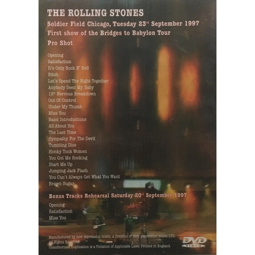 ROLLING STONES - SOLDIER FIELD CHICAGO 1997 (SOLDIER FIELD, CHICAGO, ILLINOIS, SEPTEMBER, 20, 1997)