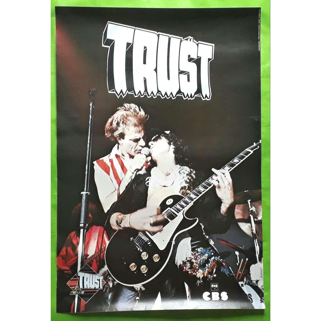 TRUST TRUST-(Limited édition)(Affiche  live)(Grande)(Original)(CBS)(1980)(France)