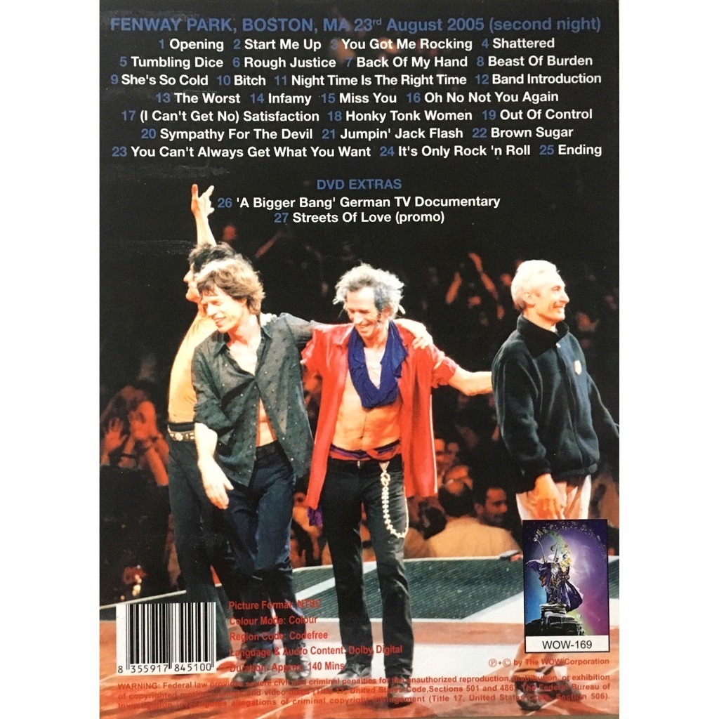 ROLLING STONES - 2ND NIGHT STAND 2005 (FENWAY PARK, BOSTON, MA, AUGUST, 23, 2005)