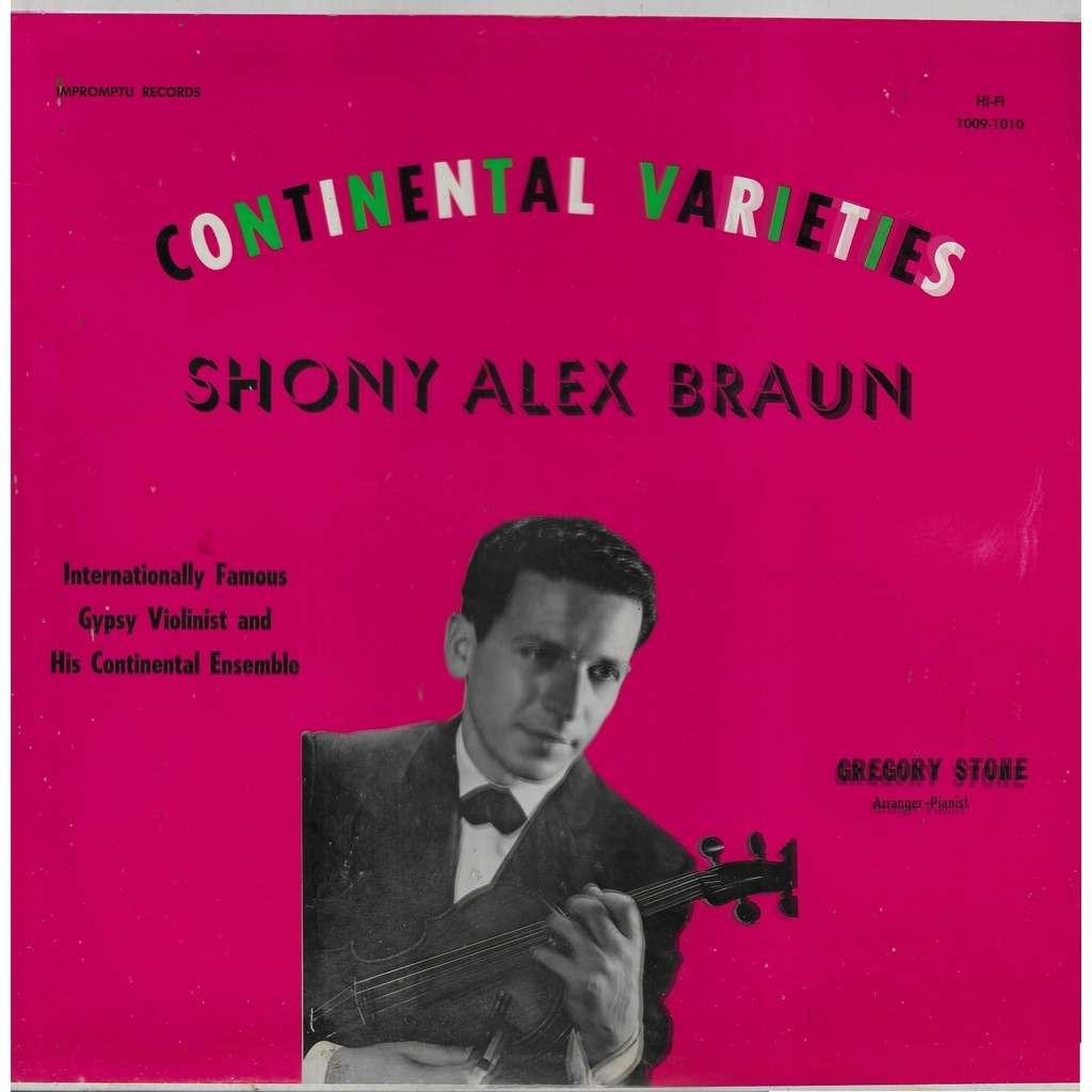 Shony Alex BRAUN Continental Varieties