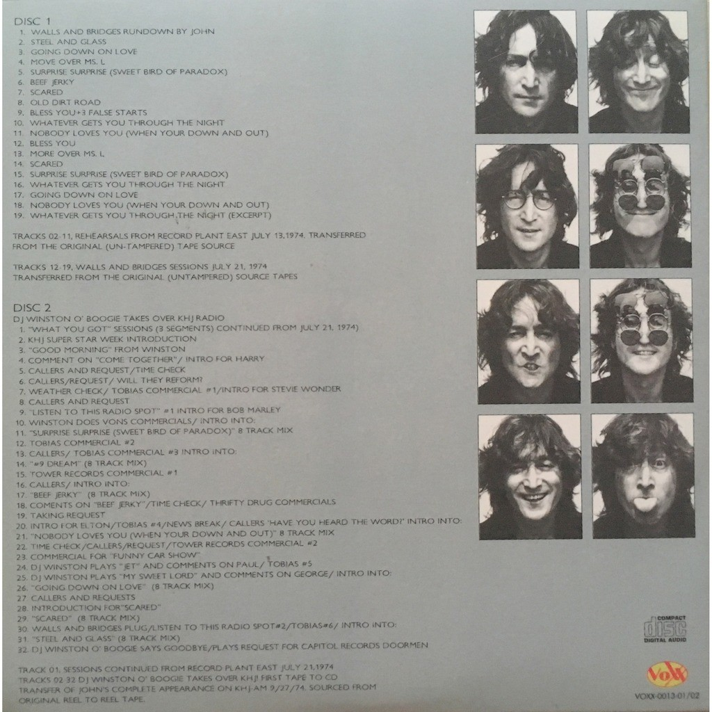 BEATLES / JOHN LENNON - WALLS AND BRIDGES REVISITE (ALTERNATES - DEMOS - OUTTAKES)