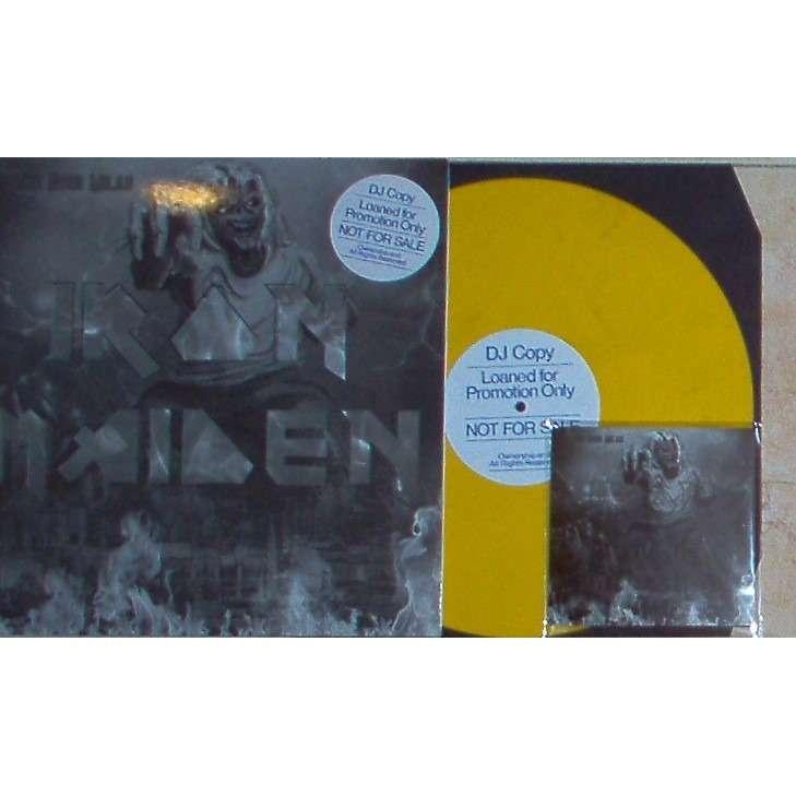 Iron Maiden Thunder Over Milan (Ltd 30 copies DJ w/label LP promo YELLOW wax unique die-cut ps & DVD package!)