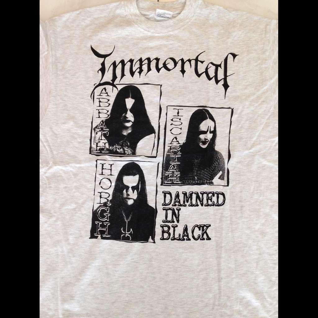 IMMORTAL Damned in Black. Promo Design