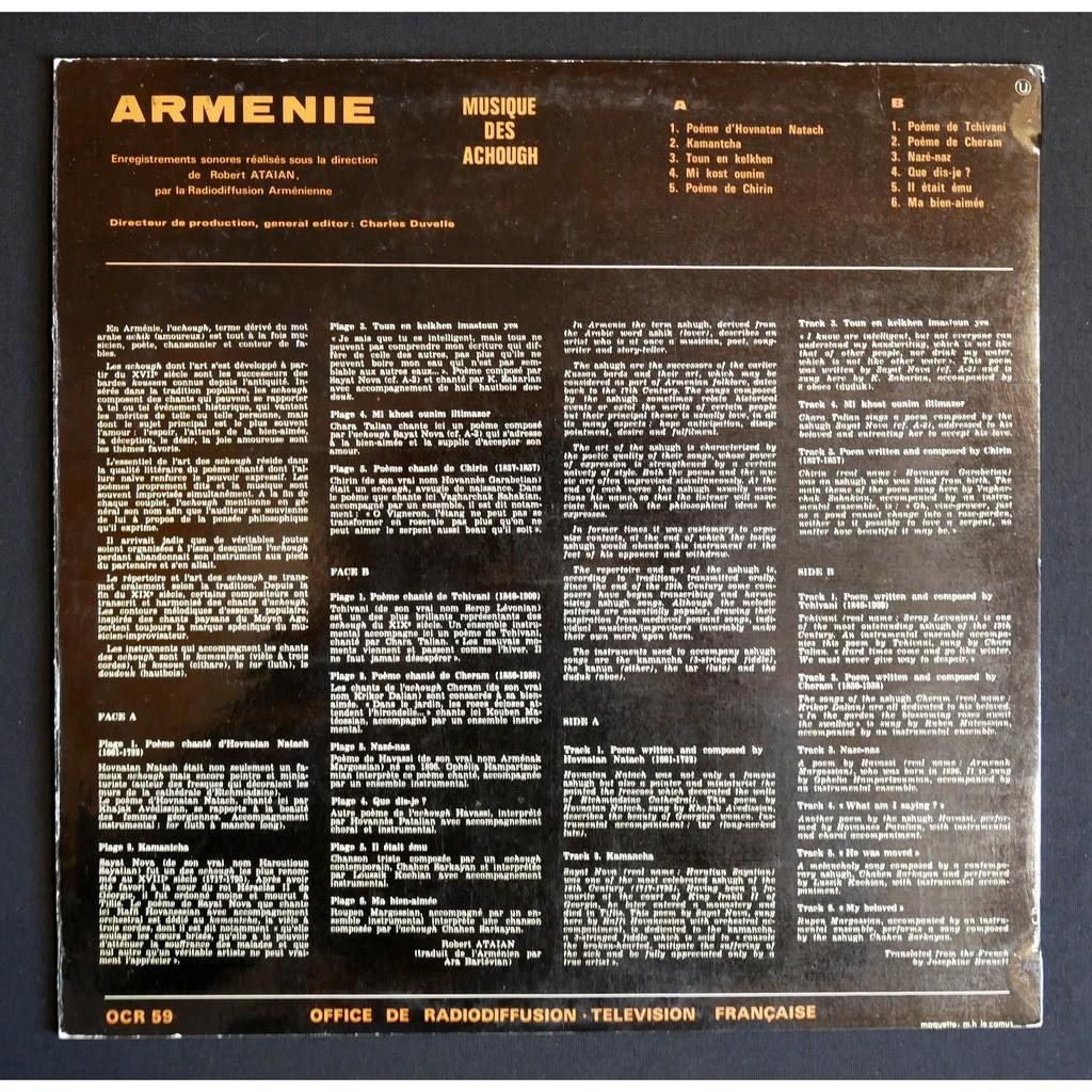 Various Arménie - Musique Des Achough