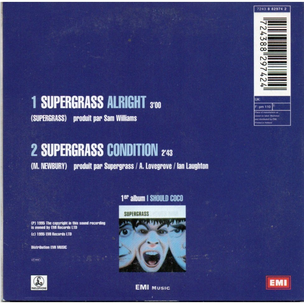 supergrass alright / condition