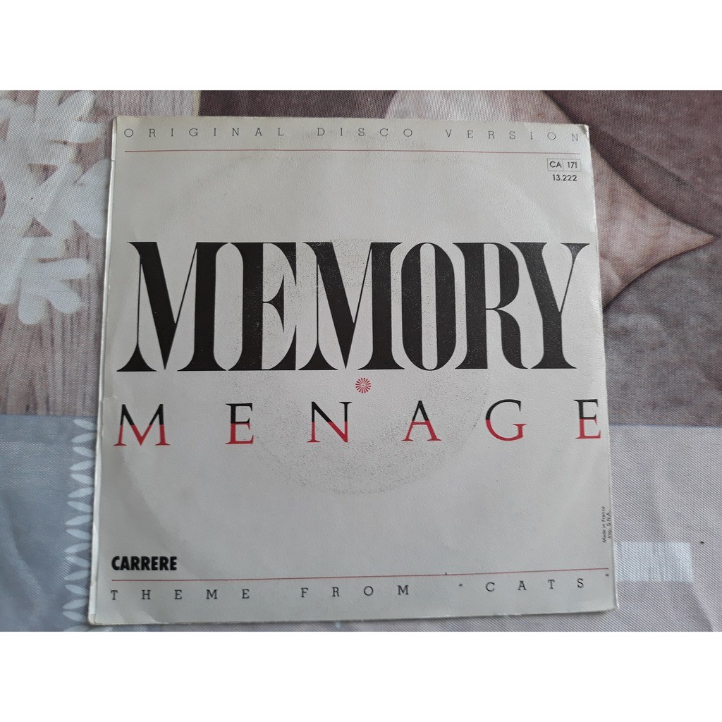 Menage (2) - Memory (7, Single) Menage (2) - Memory (7, Single)