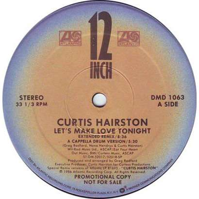 Curtis Hairston Let's Make Love Tonight / Take Charge