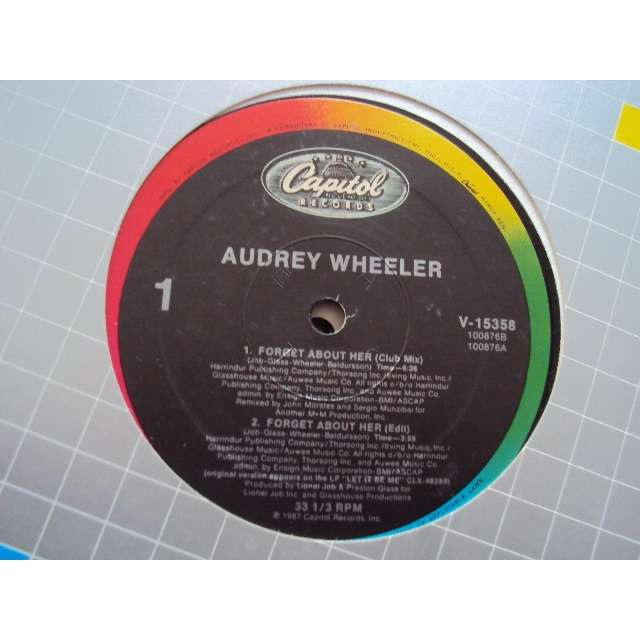 Audrey Wheeler Forget About Her (3 MIXES) / IRRESISTABLE (THE UK REMIX) 1987 USA