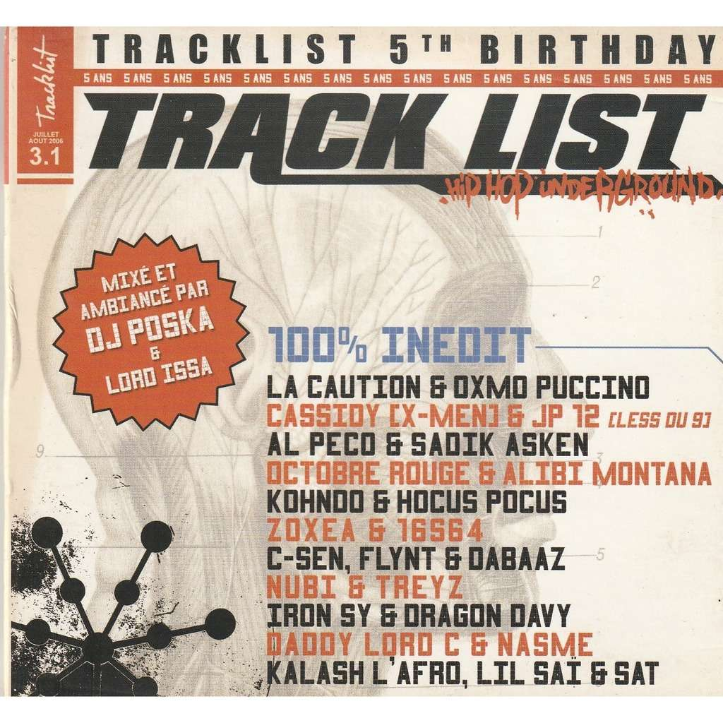 divers artistes - various artist Track List 5th Birthday