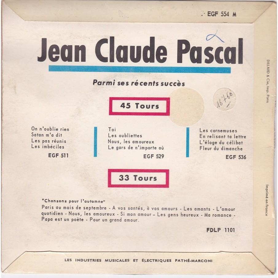 Un An Déjà Lamour Cest Comme Un Jour La Rose Du Premier De Lan A Capri De Jean Claude Pascal 45 Rpm Ep 4 Títulos Con Capricordes