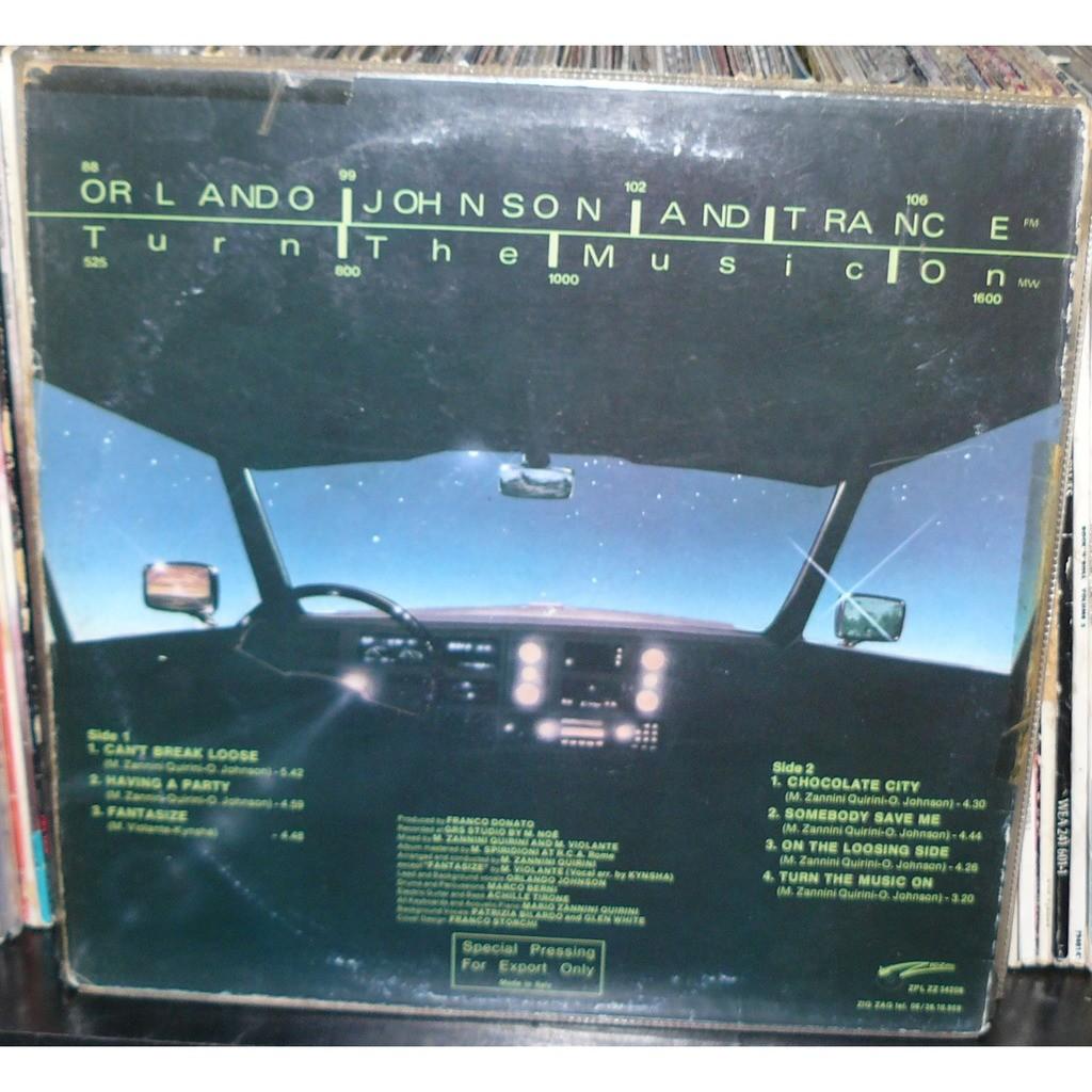 orlando johnson and trance turn the music on TEST PRESSING ORIGINAL