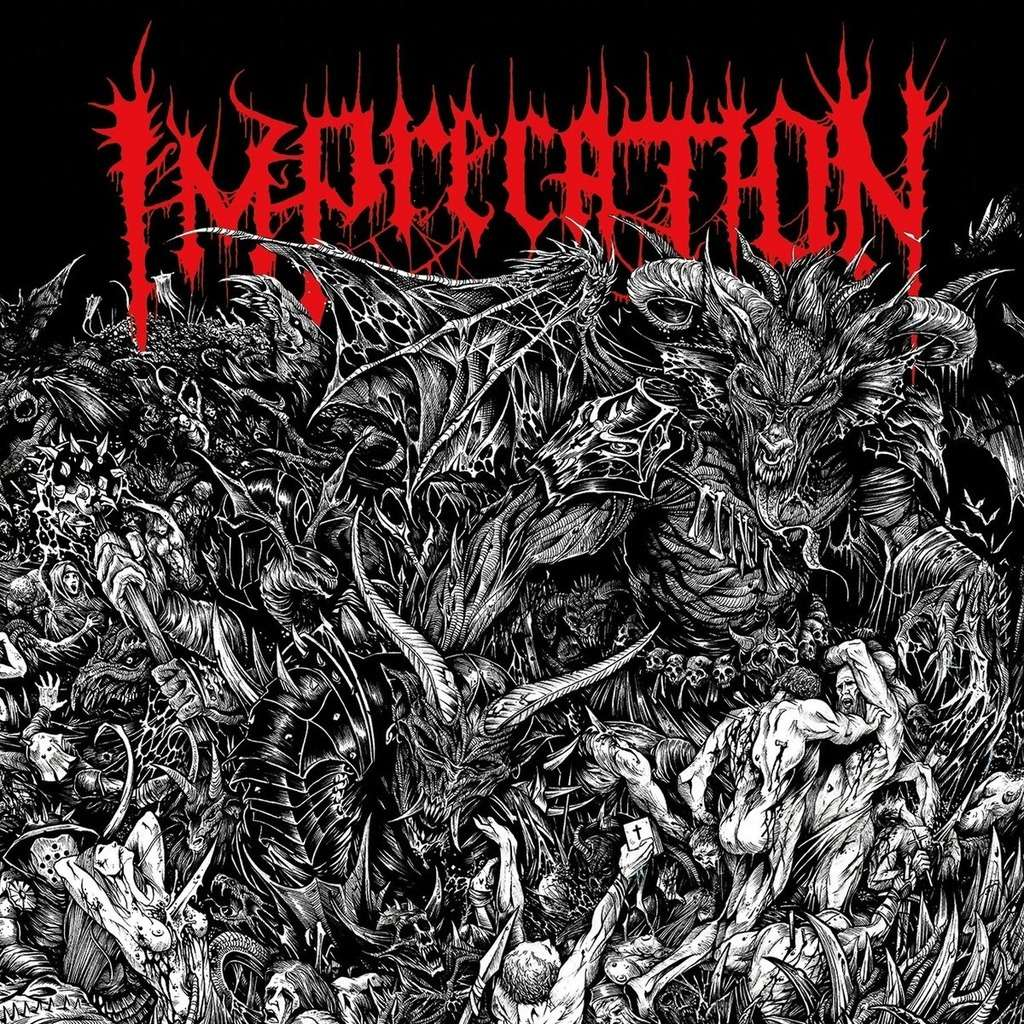 IMPRECATION Damnatio Ad Bestias. Black Vinyl