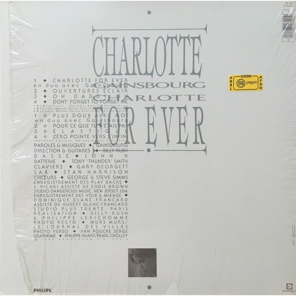 SERGE GAINSBOURG - CHARLOTTE FOR EVER (FR. PRESSING 12 VINYL LP EMBOSSED COVER + INNER)