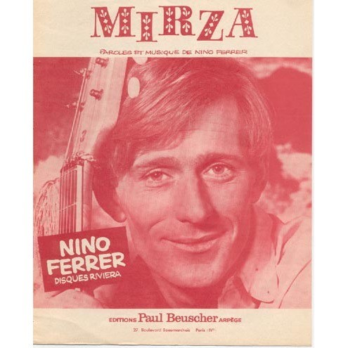 Nino FERRER Lot de 12 partitions