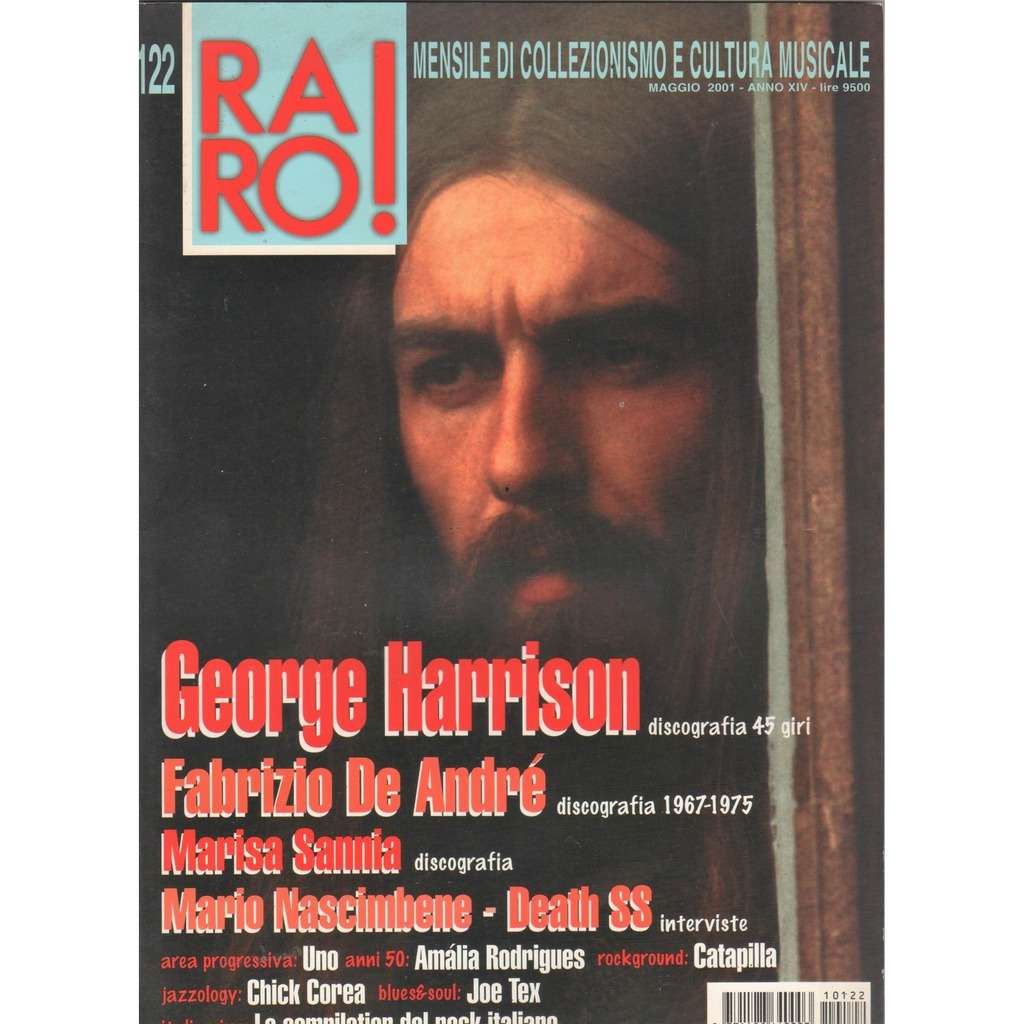 Beatles / George Harrison RARO! (N.122 May 2001) (Italian 2001 George Harrison front cover collector's magazine!!)