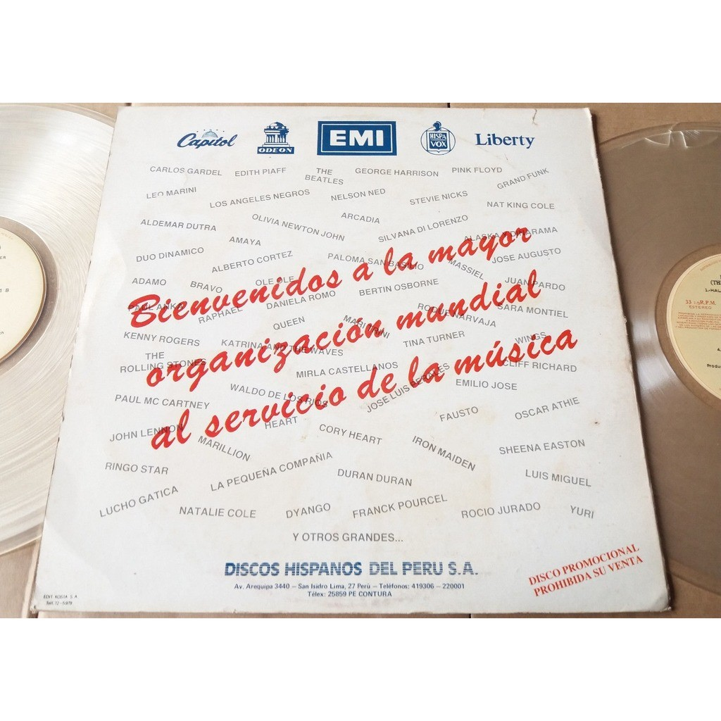 iron maiden Live After Death (Peru 1985 original Ltd 18-trk CLEAR WAX 2LP PROMO Co. slv & promo insert!!)