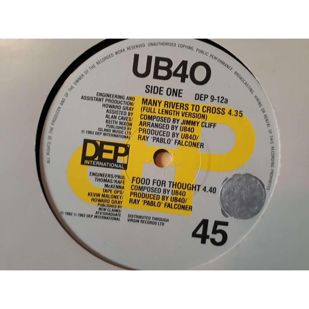 ub40 many rivers to cross / food for thought