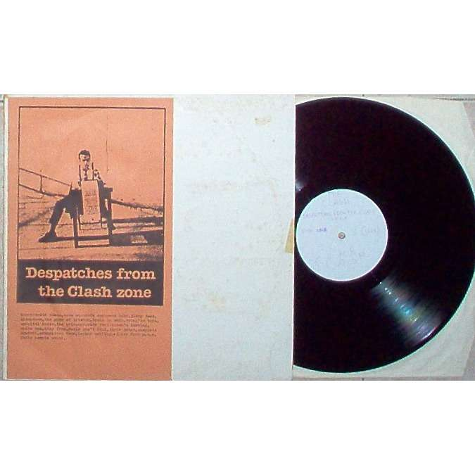 The Clash Despatches From The Clash Zone (Original early 80s Ltd live LP original brown insert ps)
