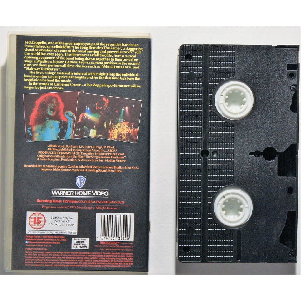 The song remains the same by Led Zeppelin, VHS with cruisexruffalo