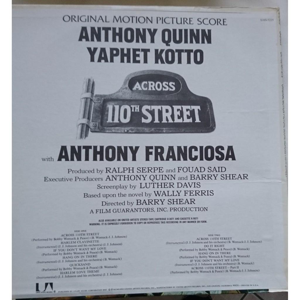 Bobby Womack & J.J. Johnson Across 110th Street (sound track)