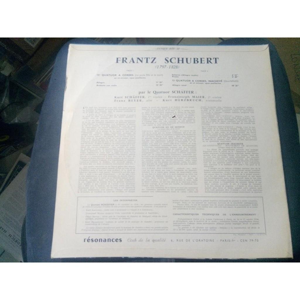 Schäffer Quartett - Beethoven BEETHOVEN : 14eme quatuor a cordes -12eme quatuor a cordes, inachevé