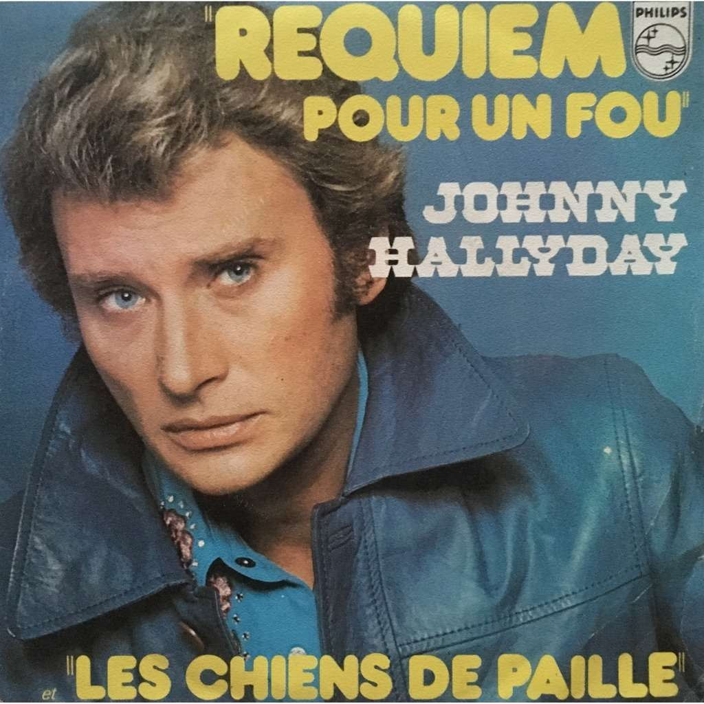 JOHNNY HALLYDAY - REQUIEM POUR UN FOU (FR. PRESSING 2 TRK VINYL 7 SINGLE)
