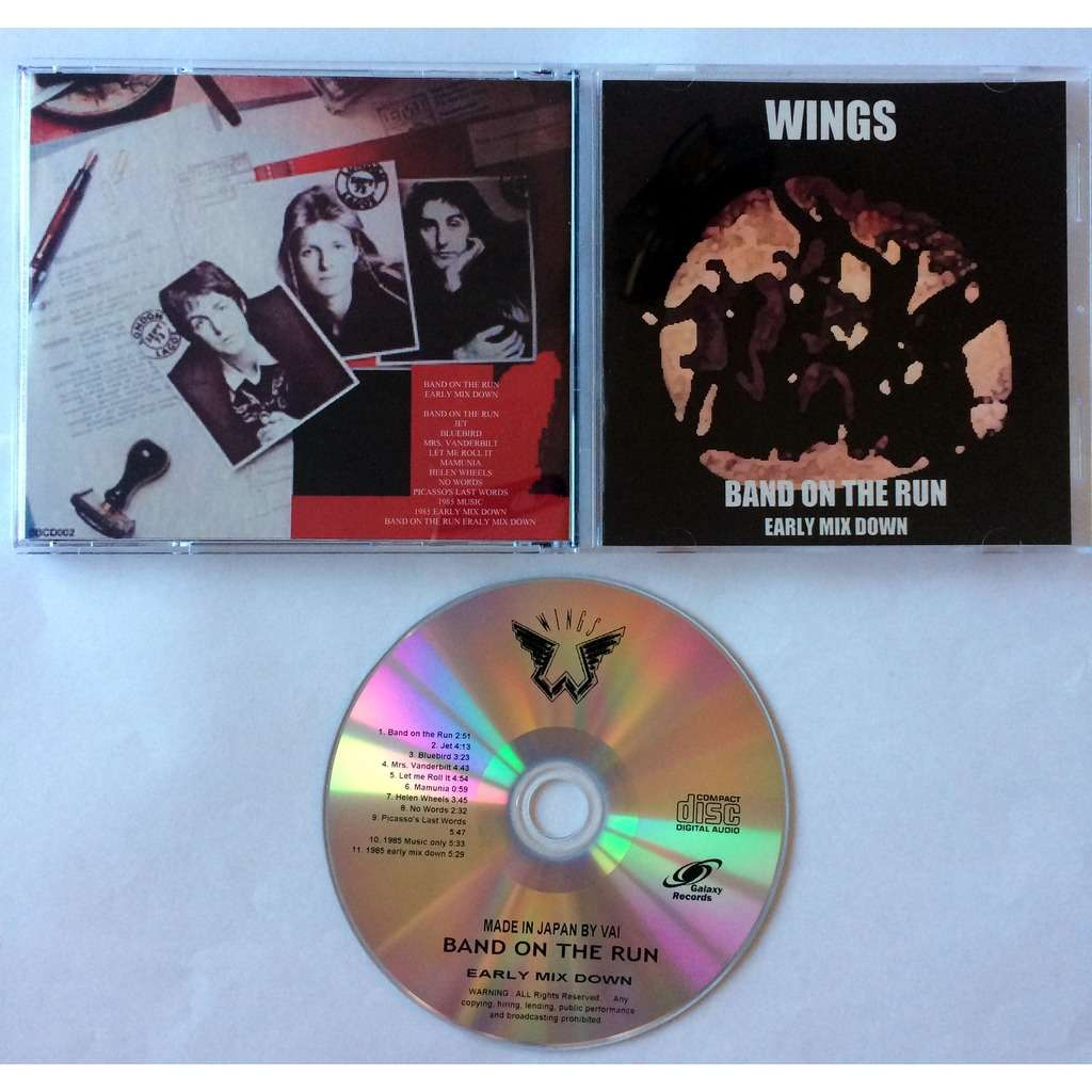BEATLES - PAUL McCARTNEY & WINGS Band on the Run Early Mix Down