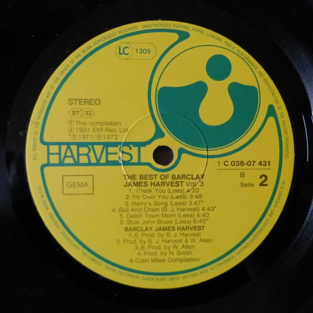 BARCLAY JAMES HARVEST THE BEST VOLUME 3