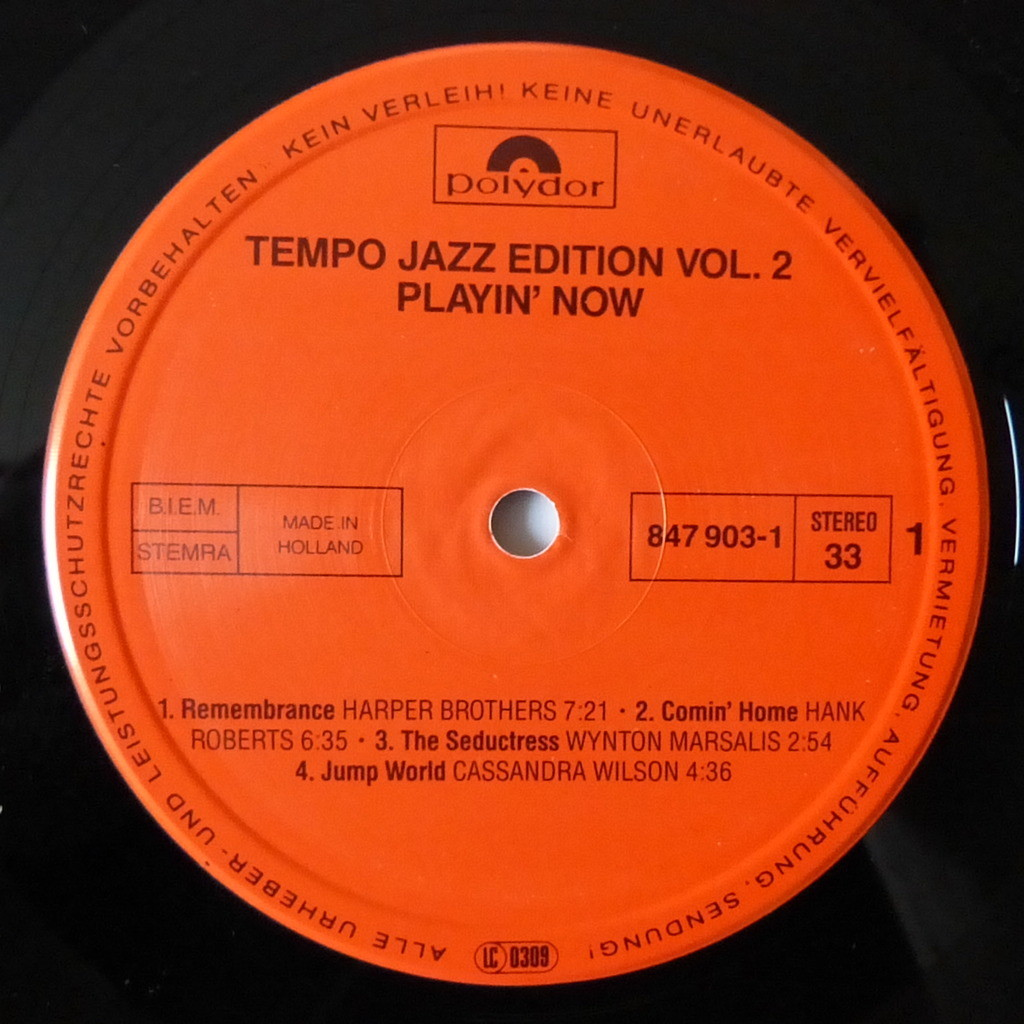 VARIOUS ARTISTS TEMPO JAZZ EDITION VOL.2