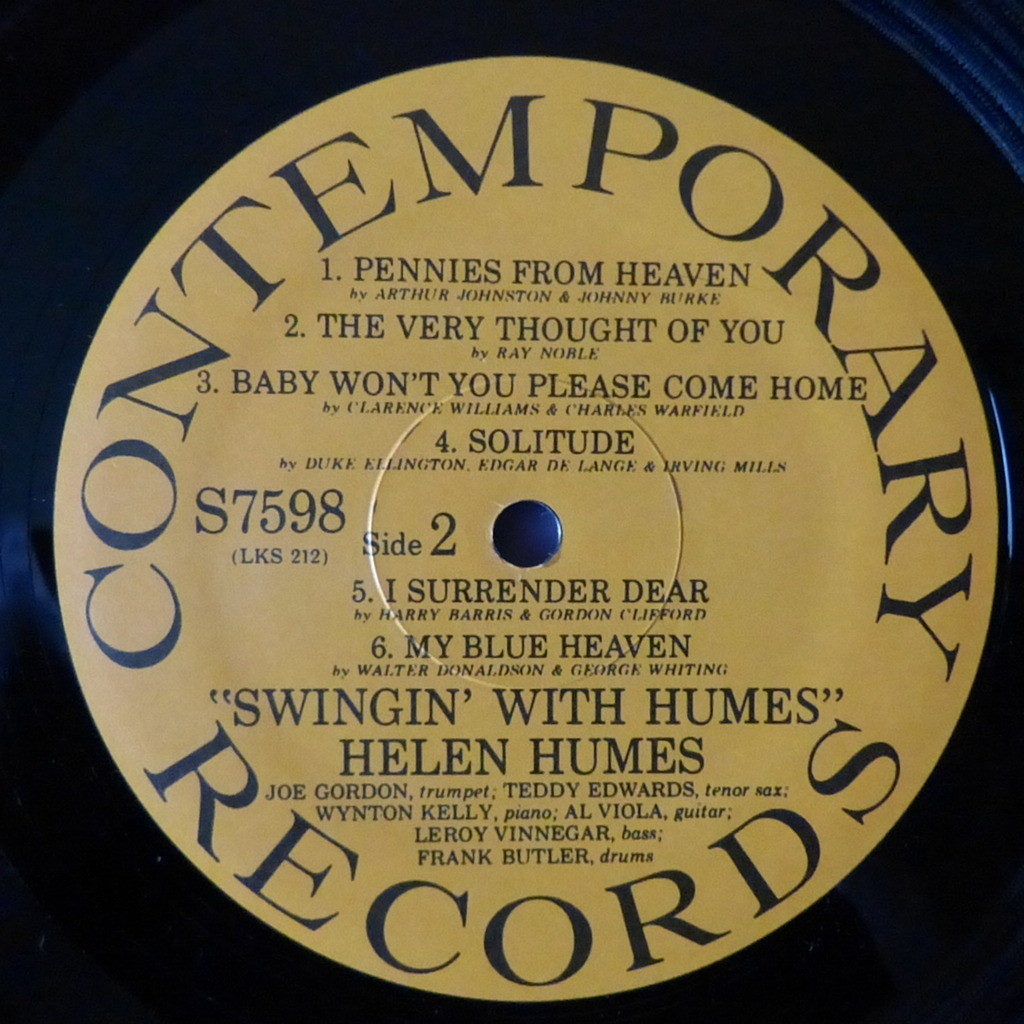HELEN HUMES SWINGIN' WITH HUMES
