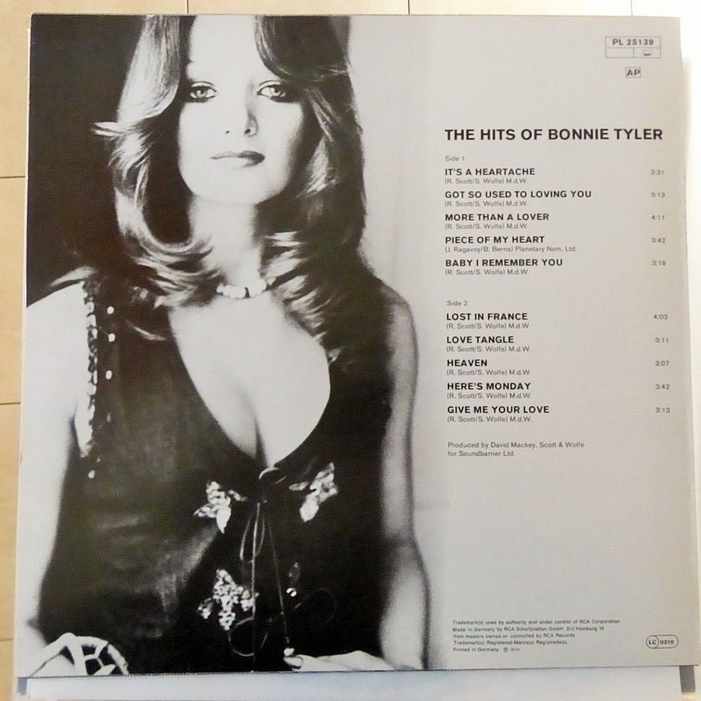 BONNIE TYLER THE HITS OF BONNIE TYLER