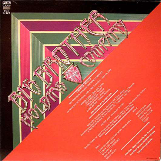 Big Brother & The Holding Company (Janis Joplin) Cheaper Thrills