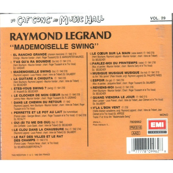 RAYMOND LEGRAND ET SON ORCHESTRE Mademoiselle Swing