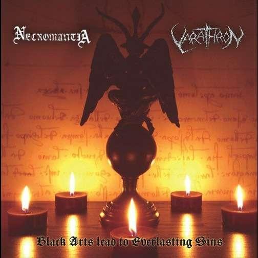 NECROMANTIA / VARATHRON Black Arts Lead to Everlasting Sins. Splatter Vinyl