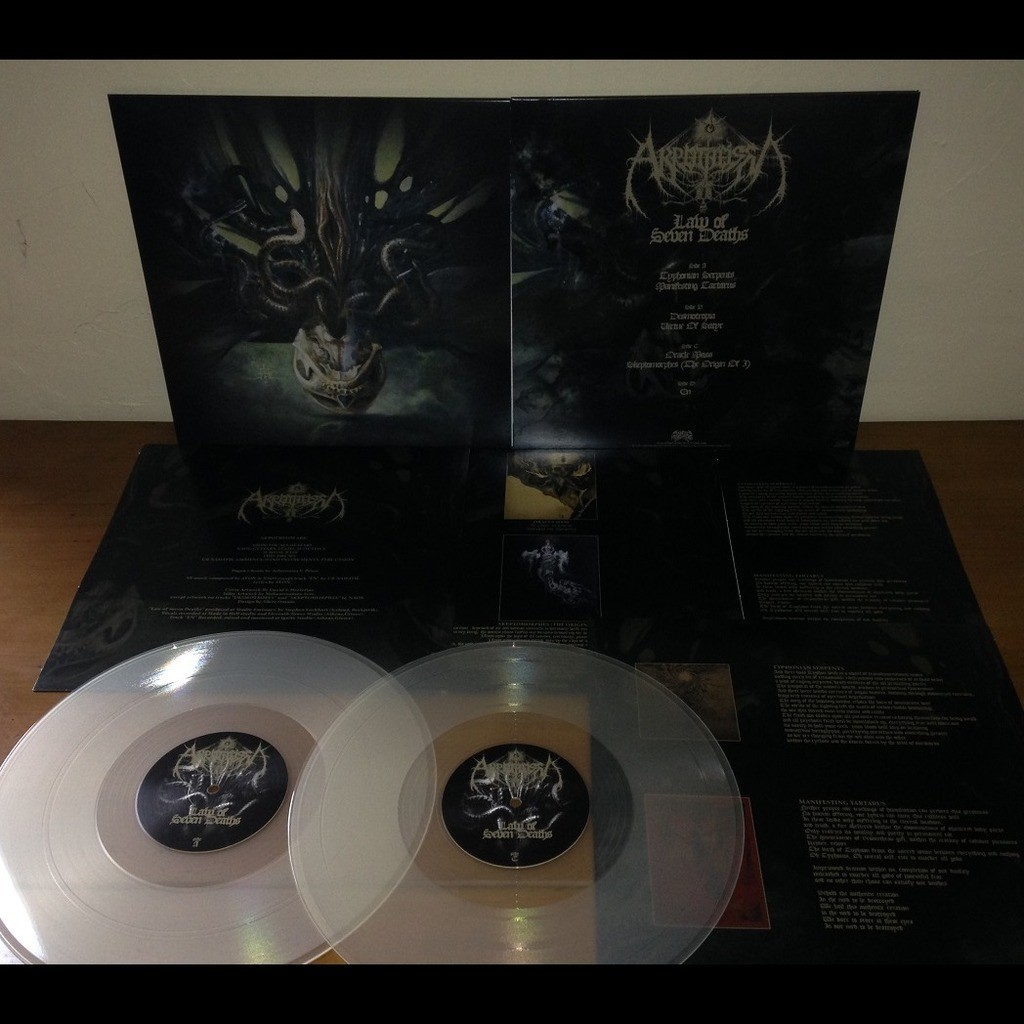 AKROTHEISM The Law of Seven Deaths. Clear Vinyl