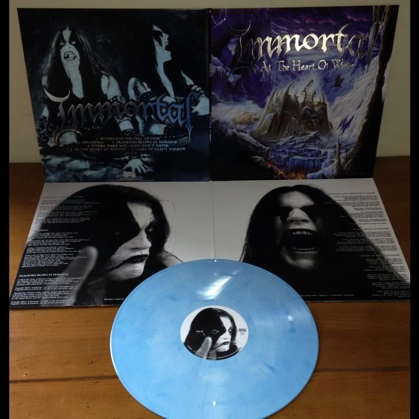 IMMORTAL At The Heart Of Winter. Blue Galaxy Vinyl.