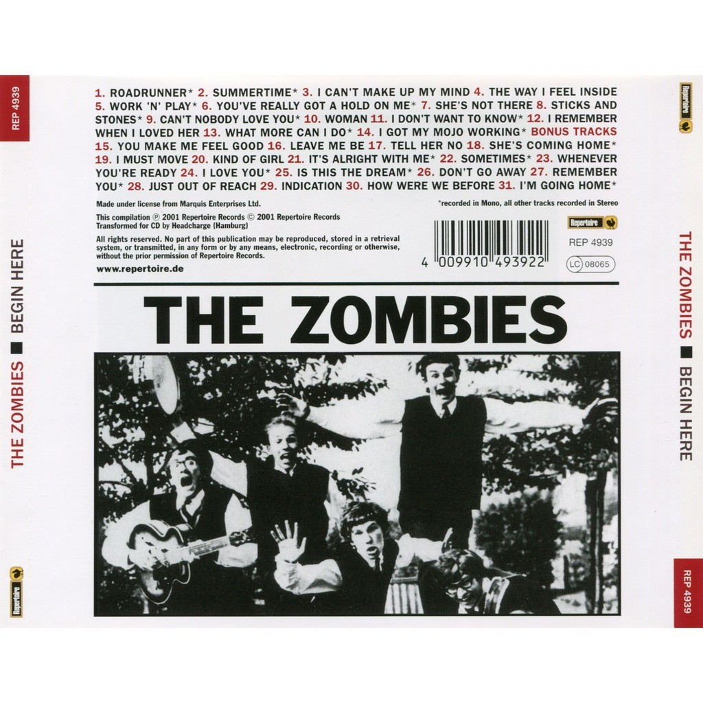 Begin Here By Zombies Cd With Solarfire Ref 119468680