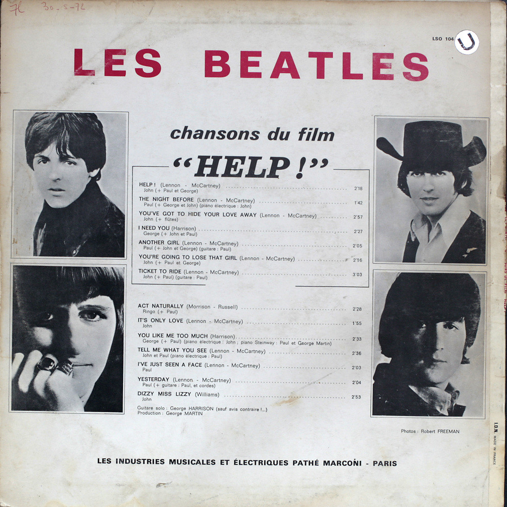 The Beatles Chansons du film Help !