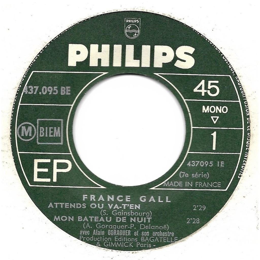 Gall France / Gainsbourg Serge Attends ou va-t'en