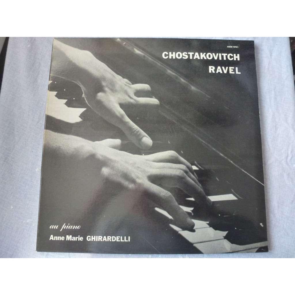 Anne-Marie Ghirardelli, piano Chostakovitch : 2e sonate - Ravel : Gaspard de la nuit - Anne-Marie Ghirardelli - ( rare near mint )