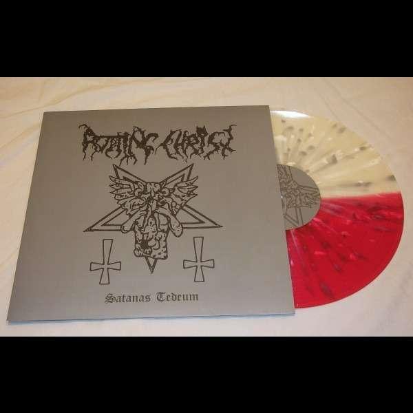 ROTTING CHRIST Satanas Tedeum. Red & White Splatter Vinyl