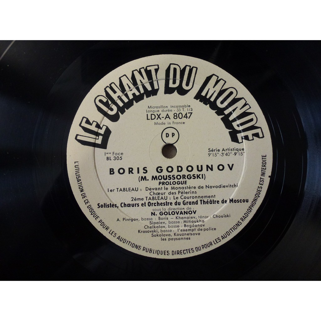 Moussorgski - Nikolai Golovanov Boris Godunov - (pirogov, krouglikova, zlatogorova, verbitskaia, khanaiev) - very rare 3 lp set box