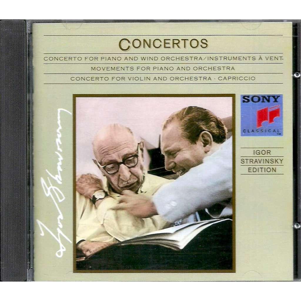 igor stravinsky concertos / philippe entremont / isaac stern / charles rosen / igor stravinsky