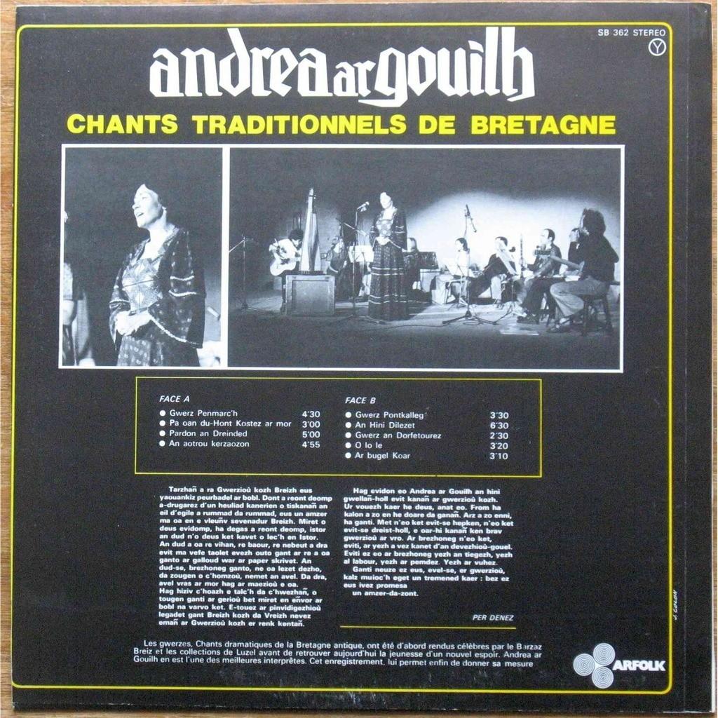 andrea ar gouilh gwerziou ha soniou ar bobl - chants traditionnels de Bretagne